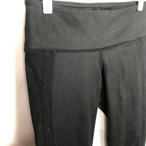 ALO Yoga Pants - Alo yoga Capri black metallic-y leggings